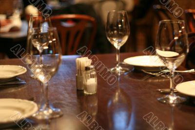 table in restaurant without meal