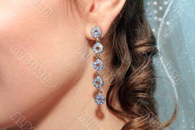 Bride`s earring