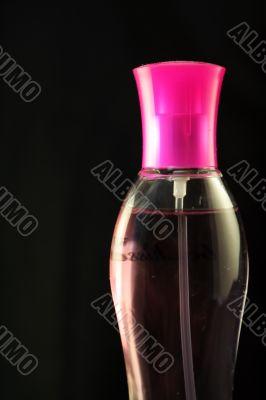 Pink perfume vial
