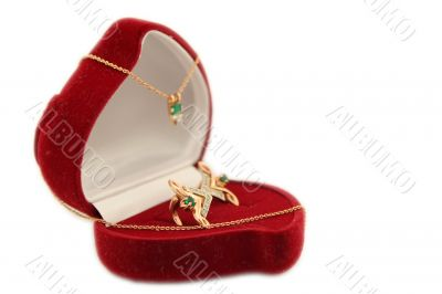 red box of adornments