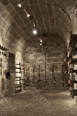 Interior of a cellar