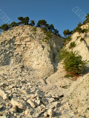 Rocky coast of Black sea