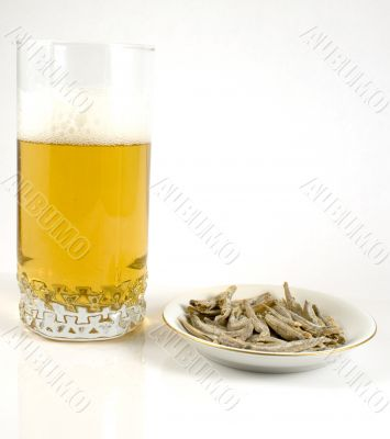 Beer and ichovy snack