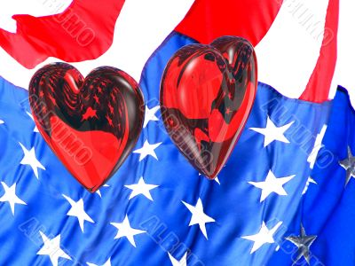 Patriotic hearts for Valentine