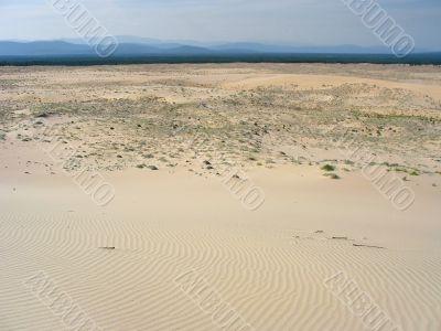 Chara sands. Desert landscape