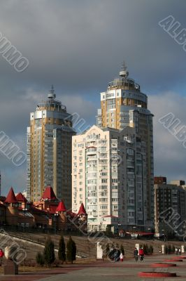 yellow tall building