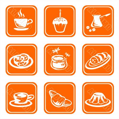 ornate food symbols
