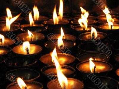 Tibetan candlelights
