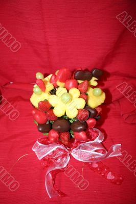 Valentine Fruit and Chocolate
