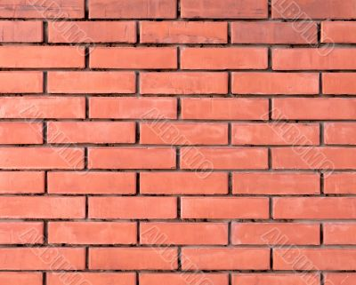 Fine red brick wall background texture