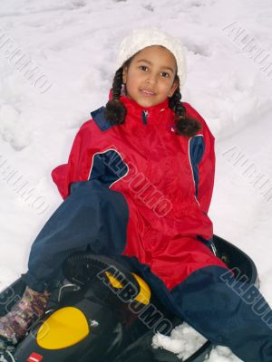 on my sled