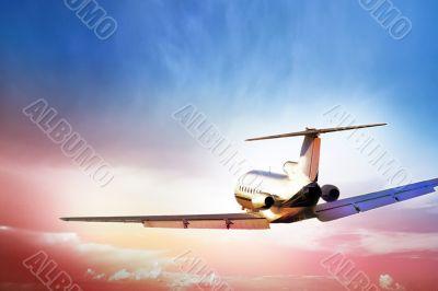Passenger Aircraft in flght