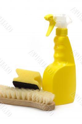 Spray Bottle with Sponge and Brush