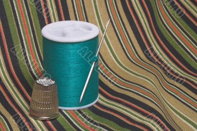 Sewing Thread and Thimble