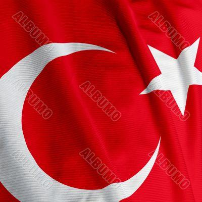 Turkish Flag Closeup