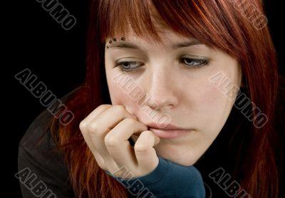 Girl feeling sad