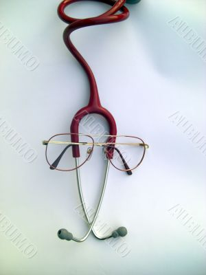 stethoscope symbolyzing a cute doctor