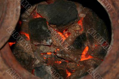 Coal stove.