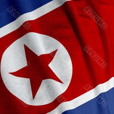 North Korean Flag Closeup
