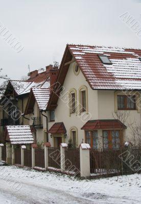 Snow-bound cottage