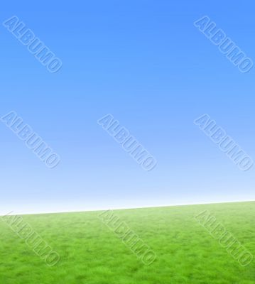 Simple blue and green nature background