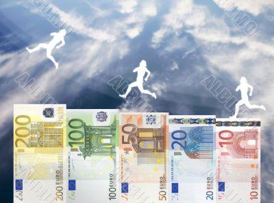 Raise of Euro money value
