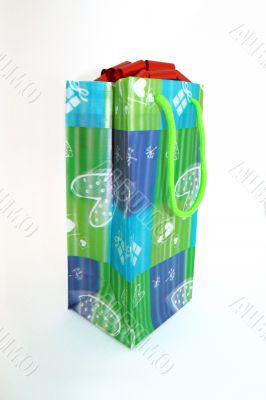 Present. Spotty bag