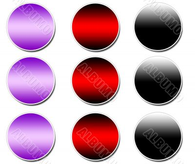 Blank Sticker buttons
