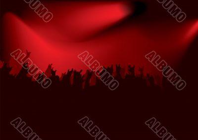 rock red concert