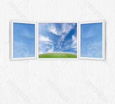 Open window freedom concept