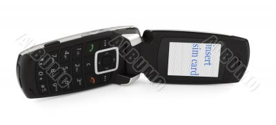 slide phone with INSERT SIM CARD