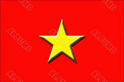 Embossed Vietnamese flag