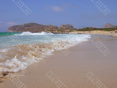 Sandy beach in Crete