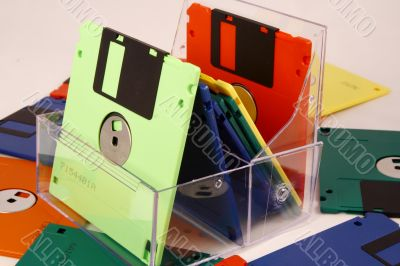Diskettes for storage of the information