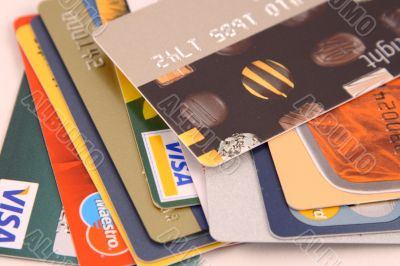 Plastic cards for payment of purchases