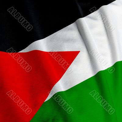 Jordanian Flag Closeup