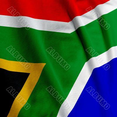 South African Flag Closeup