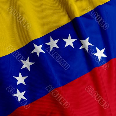 Venezuelan Flag Closeup