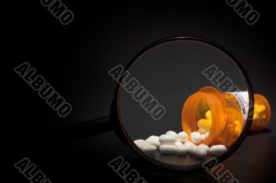 Prescription Medication Magnified