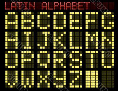 Latin alphabet. Indicator.
