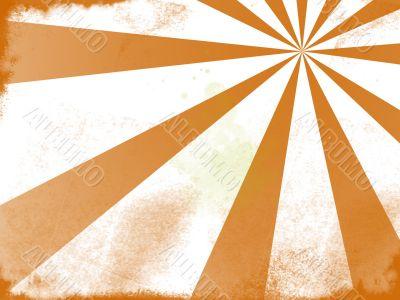 Orange grunge sunburst