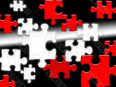 Floating Puzzle Pieces background