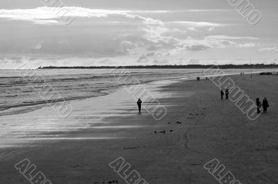 Loneliness on beach