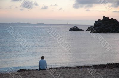 Loneliness on the beach
