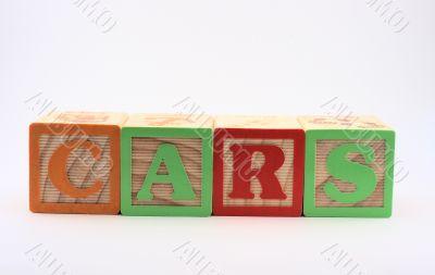 Block Words - Cars