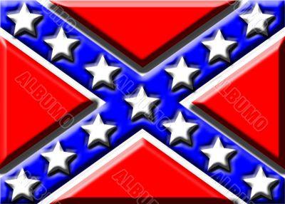 Embossed Confederate flag