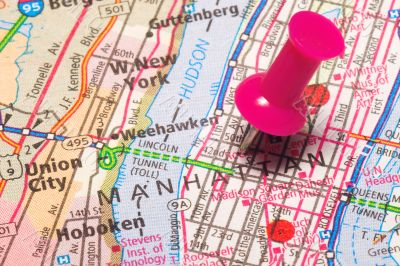 A Push Pin in New York