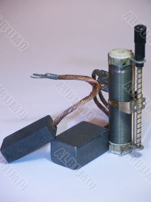 Electric brushes and rheostat