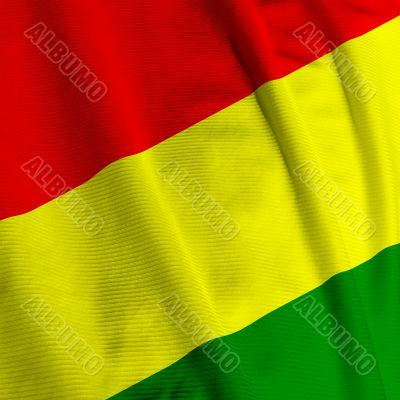 Bolivian Flag Closeup