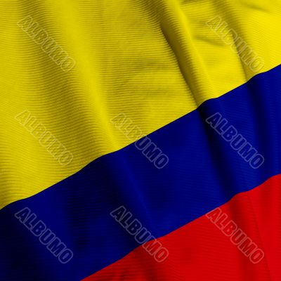 Colombian Flag Closeup